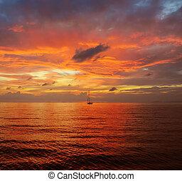 bello, tramonto