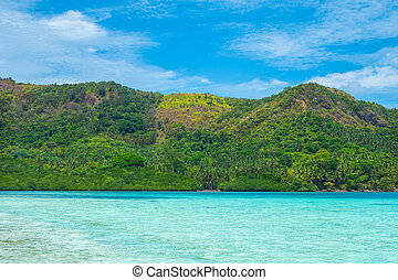 bello, tropicale, paesaggio