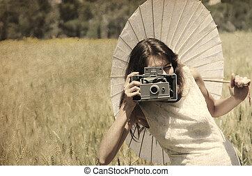 bello, vecchio, foto, immagine, photographer., style.