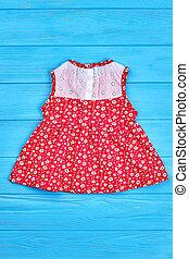 bello, vendemmia, baby-girl, dress.