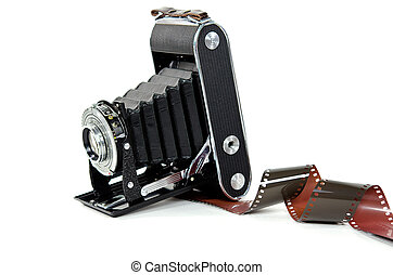 bellows camera with film