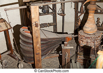 Old bellows used for the preparation of glass