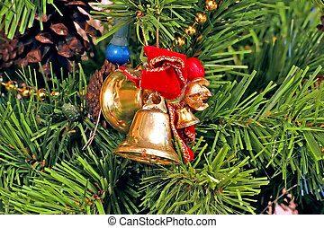 Bells and Bows Christmas Tree Ornaments