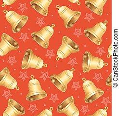 Bells Background Pattern. Vector