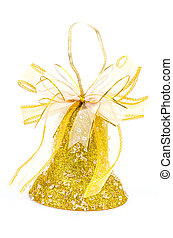 Bells - Christmas bells on isolated white background using...