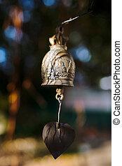 Bells hanging under Big Buddha in Phuket, Thailand - Bells...