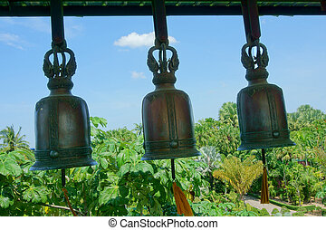 Bells in a Buddhist monastery