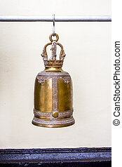 Bells in a buddhist temple of Thailand