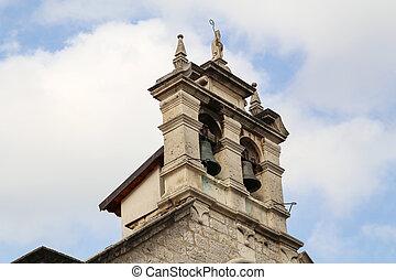 Bells in a church in Croatia