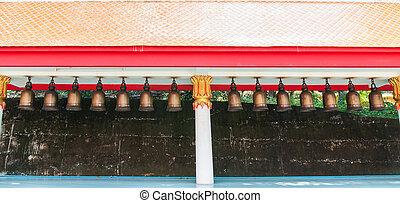 Bells in Buddhist temple