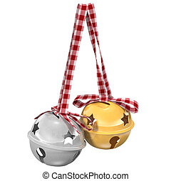 bells isolated on white background, 3d illustration