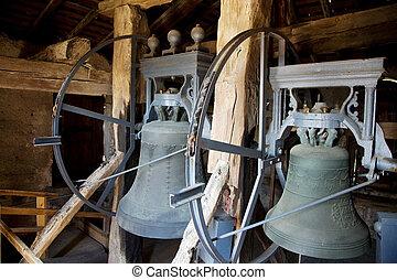 Bells of a church. Church bells - The bells in a church in...