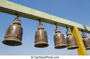 bells of Buddhist temple in Thailand