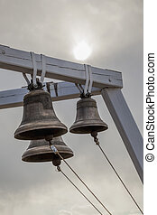 Bells on belfry Orthodox church outdoors