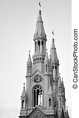 Bells towers of Saints Peter and Paul Church - San Francisco CA