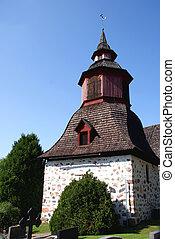 Belltower in Tenhola, South of Finland