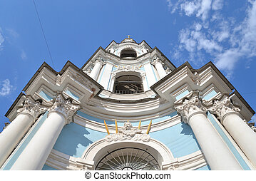 Belltower of St. Nicholas Naval Cathedral.