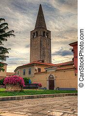 Belltower of the Euphrasian Basilica, Porec - Belltower of...