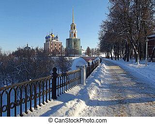belltower of the Ryazan cathedral - belltower of the Ryazan...