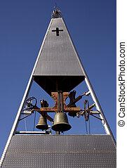 Belltower - Modern belltower of a church