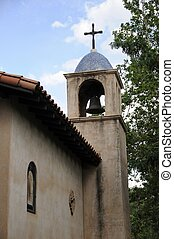 Belltower of an old stone church