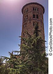 belltower of S.apollinare church,Ravenna Italy