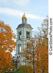 Belltower of orthodox russian church
