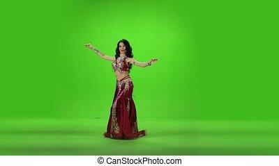 Belly dance. Green screen. - Green screen. Belly dance....