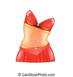 Belly dance icon isolated on white vector - Belly dance icon...