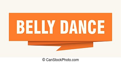 belly dance sign. belly dance paper origami speech bubble....