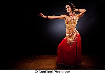 Belly dancer - A portrait of a beautiful belly dancer