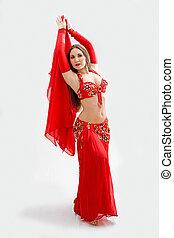 Belly dancer in red