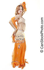 Belly Dancer Isolated on White