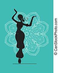 Belly dancer, sketch for your design