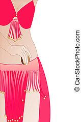belly dancer -  belly dancer vector