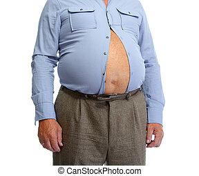 belly., homem gordo