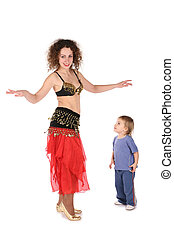 bellydance mother with baby