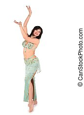 bellydance woman isolated on white