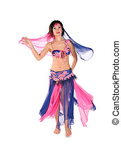 bellydance woman on white 3