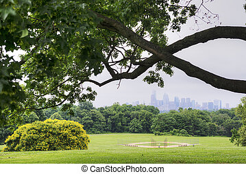 Belmont Plateau in Philly in the Summer.