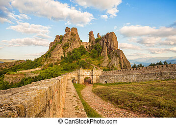 Belogradchik fortress entrance and the rocks - The...