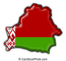 belorussian, bandera, mapa, botón, forma
