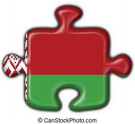 belorussian, forma, rompecabezas, botón, bandera