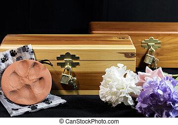 Beloved Pet's Ash Urn - Urn of ashes of a beloved pet who...