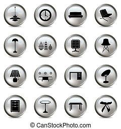 belső, állhatatos, ezüst, ikonok