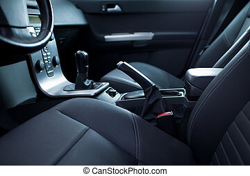 belső, autó, modern