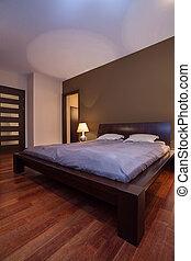 belső, barna, hálószoba