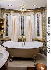 belső, fürdőszoba, alatt, klasszikus, mód