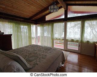 belső, hálószoba, fiatalúr, emelet, második