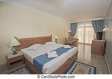 belső, hotel, tervezés, fényűzés, hálószoba
